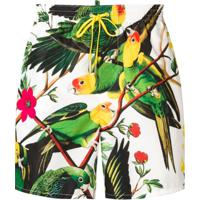 Dsquared2 Sunga Com Estampa Tropical - Branco