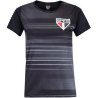 Camiseta Lic Sao Paulo Agile 20 Xps Fem - Preto