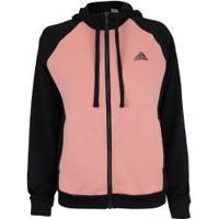 Agasalho Com Capuz Adidas Wts - Feminino - Preto/Rosa