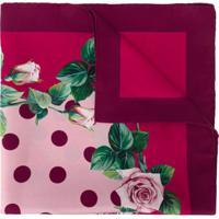 Dolce & Gabbana Lenço Com Estampa De Rosas