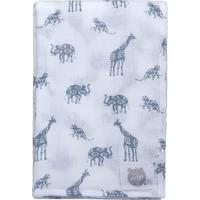 Cobertor Animais - Branco & Cinza- 120X120Cm - Zbicho Molhado
