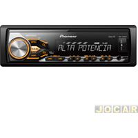 Auto Rádio Mp3 Player - Pioneer - Usb/Wma/Mixtrax-Cr/Interface Para Android - Cada (Unidade) - Mvh-X288Fd