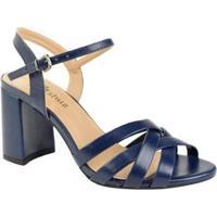 Sandália De Salto Alto M Shuz Feminina - Feminino-Azul