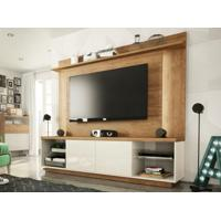 "Home Theater Para Tv Ate 55"" Cadence Buriti/Off-White-Líder Design"