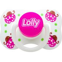 Chupeta Zoo Bico Orto T2 Lolly Baby Rosa