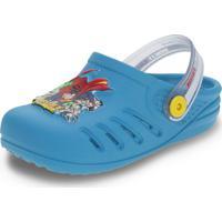 Clogs Infantil Liga Da Justiça Grendene Kids - 22091 Azul/Vermelho 25