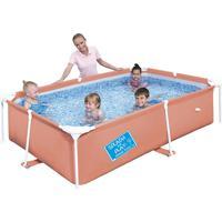 Piscina Frame Pool Estruturada 1,800 Litros Laranja - Bestway
