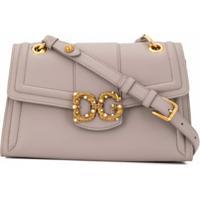 Dolce & Gabbana Bolsa Tiracolo Dg Amore - Cinza