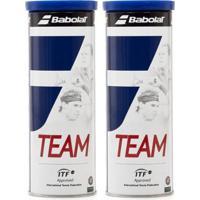 Kit 2 Pack Bola De Tênis Babolat Team - Unissex