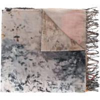 Uma Wang Echarpe Com Estampa Tie-Dye - Cinza