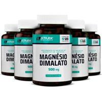 Kit 5X Magnésio Dimalato Stark Supplements 120 Cápsulas - Unissex