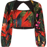 Mara Hoffman Blusa Cropped Com Estampa Floral - Estampado