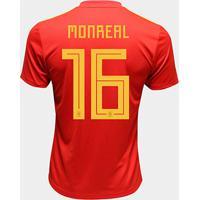 Camisa Seleção Espanha Home 2018 N° 16 Monreal - Torcedor Adidas Masculina - Masculino