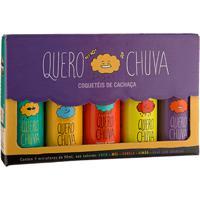 Kit Quero Chuva Coquetel De Cachaça - 5 Unidades De 50 Ml Cada