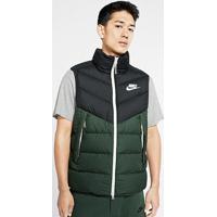 Colete Nike Sportswear Down Vest Masculino - Masculino-Preto+Verde