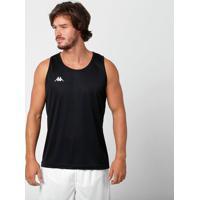 Camiseta Regata Kappa Basic Masculina - Masculino-Preto
