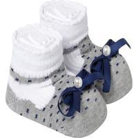 Sapatinho De Bebe Sapato Infantil Menina Cinza