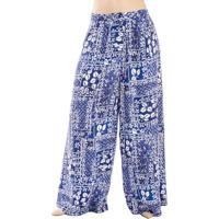 Calça Pantalona Floral Cantão