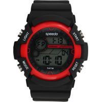 Relógio Speedo 81105G0Evnp1 Preto/Vermelho