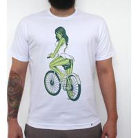 Melancia De Bike - Camiseta Clássica Masculina