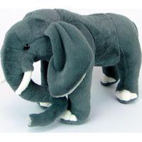 Elefante De Pelúcia Realístico 35Cm
