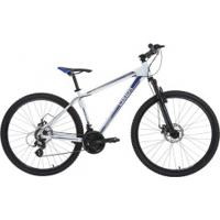 Bicicleta Oxer Xr210 - Aro 27,5 - Freio A Disco - Câmbio Traseiro Shimano - 21 Marchas - Branco/Azul