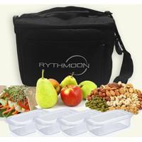 Kit Bolsa Térmica Tipo Keeppack Preta + 4 Refeições Rythmoon - Unissex