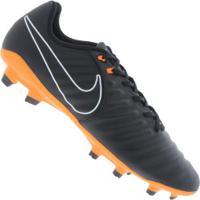Chuteira De Campo Nike Tiempo Legend 7 Academy Fg - Adulto - Preto Laranja  Esc 4124a440ef46e