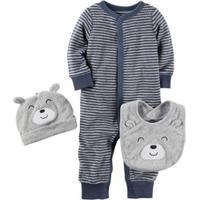 Kit Bebê Carter'S Urso 3 Peças Masculino - Masculino-Marinho