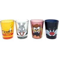 Conjunto Com 4 Copos Shot Faces - Looney Tunes