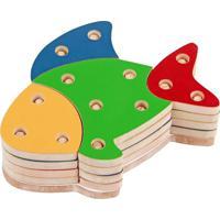 Brinquedo Educativo Troque E Encaixe As Cores Peixe Carlu Brinquedos
