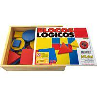 Blocos Lógicos Infantil Jott Play 48 Peças Colorido