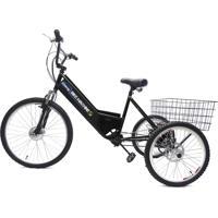 Triciclo Elétrico Machine Motors Basic 350W 36V Preto/Preto