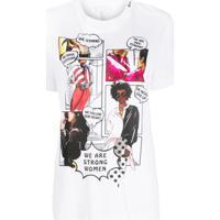 Escada Sport Comic Print T-Shirt - Branco