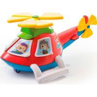 Helicóptero Helico Troca Janelinhas Calesita Vermelho Vermelho