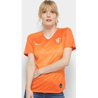 Camisa Seleção Holanda Away 19/20 S/Nº Torcedor Nike Feminina - Feminino