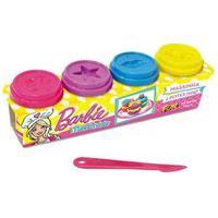 Barbie Conjunto Massinha Com 4 Potes 50G - Fun Divirta-Se