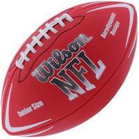 Bola De Futebol Americano Wilson Nfl Jr Wtf1796X0-Vm, Cor: Vermelho/Branco, Tamanho: U