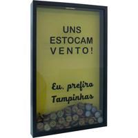 Quadro Porta Tampinhas Vento 30X50X5 Pto