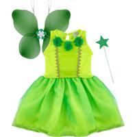 Fantasia Fada Com Asas Douvelin Verde