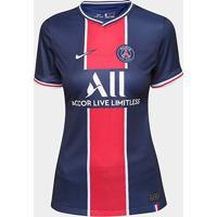 Camisa Paris Saint-Germain Home 20/21 S/N° Torcedor Nike Feminina - Feminino