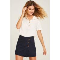 Shorts-Saia Riscas De Giz Unica-36