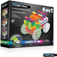 Blocos De Montar Laser Pegs Monster Truck 6 Em 1 Zippydo Branco