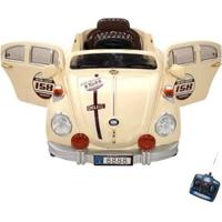 Carro Infantil Fusca Eletrico 6V Com Controle Remoto - Unissex-Bege