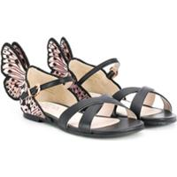 Sophia Webster Mini Sandália Butterfly - Preto