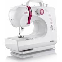 Máquina De Costura Elgin Bella Bl 1200 Bivolt Branco/Rosa