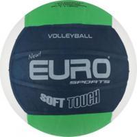 Bola De Vôlei Euro New Soft Touch - Azul Esc/Branco
