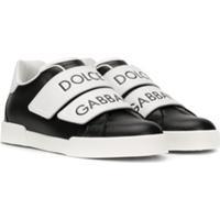 Dolce & Gabbana Kids Tênis Com Logo - Preto