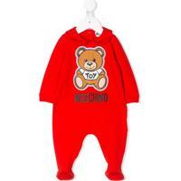 Moschino Kids Conjunto Infantil Com Logo - Vermelho