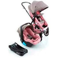 Carrinho Com Bebê Conforto Trio Poppy Travel System Rosa Mescla - Cosco